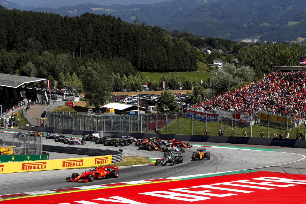 Steiermark Grandstand at the Red Bull Ring for the Austrian F1 Grand Prix
