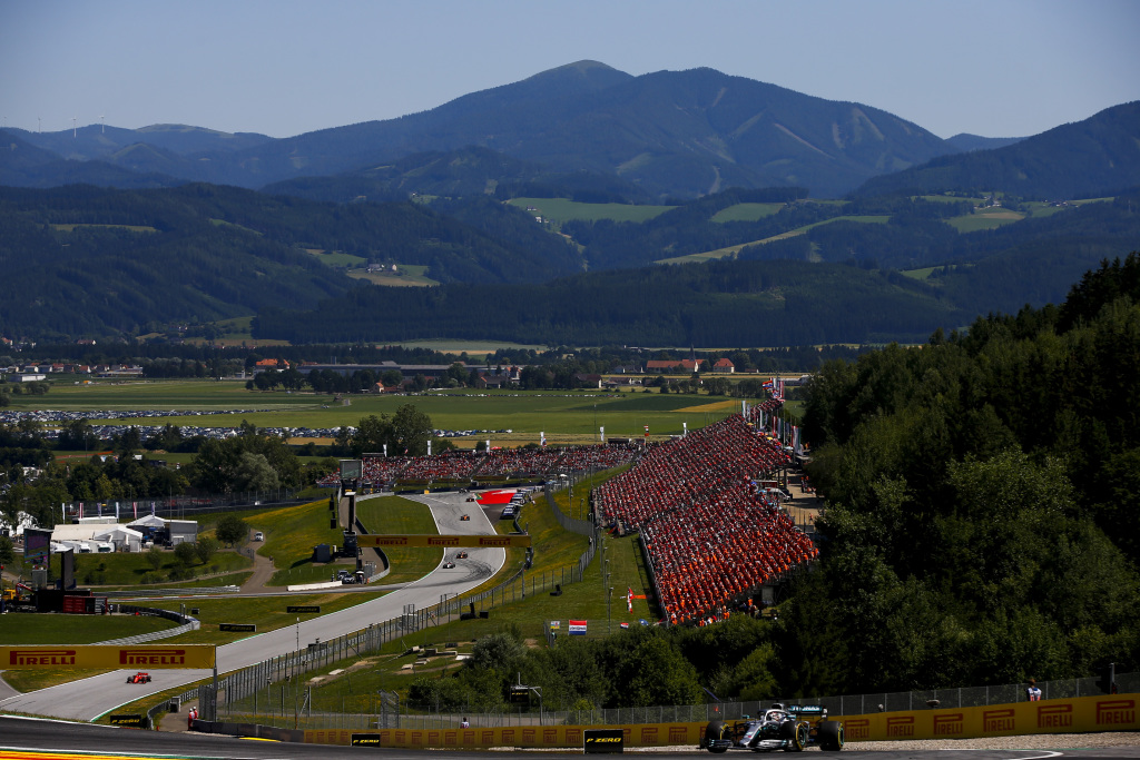 A view from general admission at the Austria F1 Grand Prix