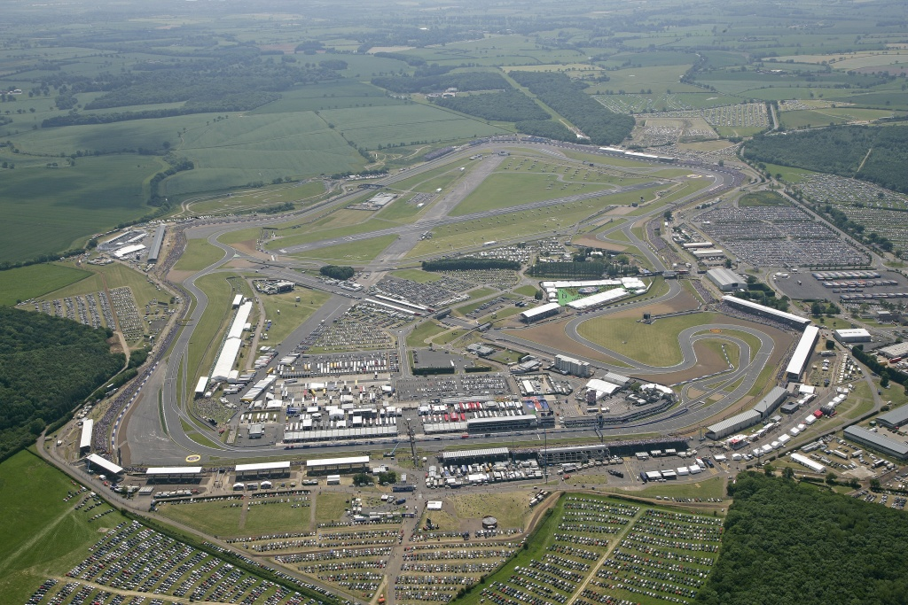 Silverstone circuit from above