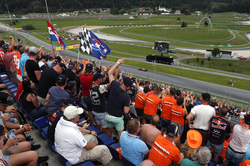 View from a grandstand at the Austrian F1 Grand Prix
