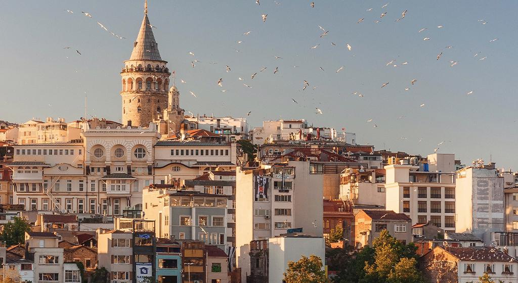 The skyline of Istanbul, Turkey