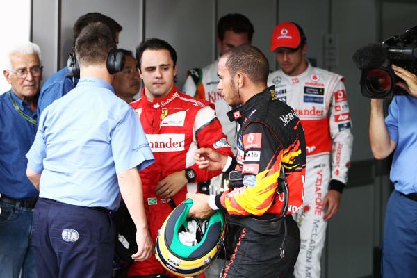 Felipe Massa and Lewis Hamilton