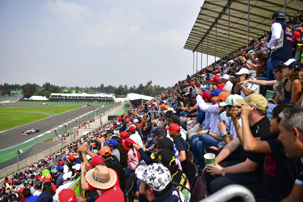 Fans at the Mexico F1 Grand Prix