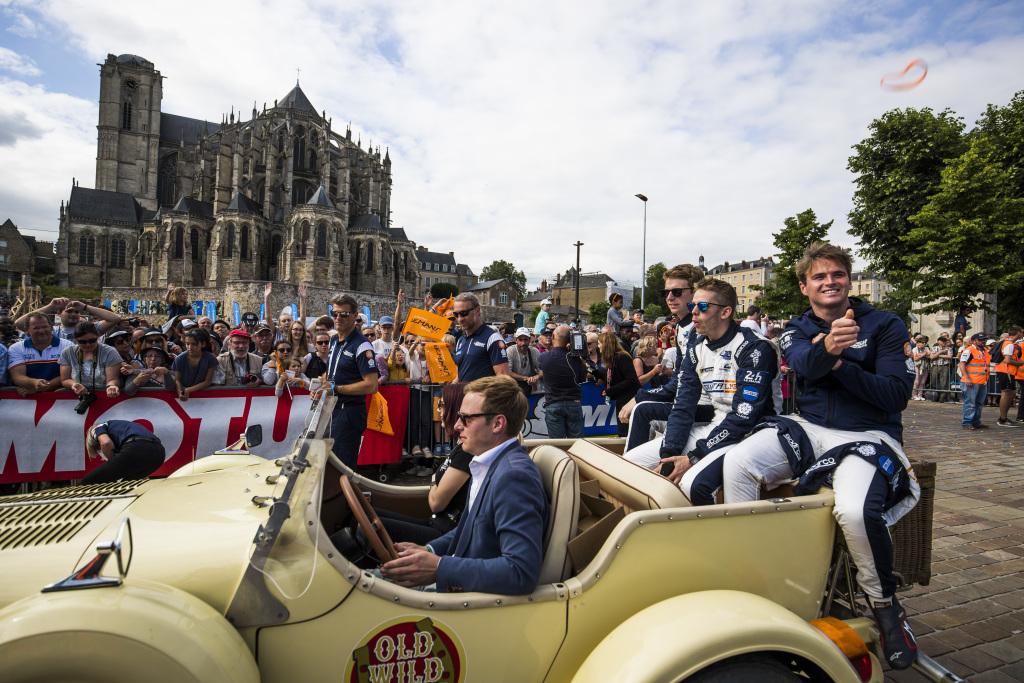 A drivers' parade at Le Mans