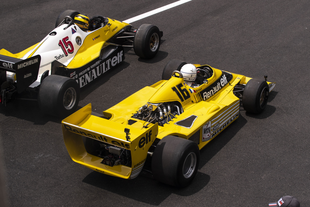Cars at the historic French Grand Prix