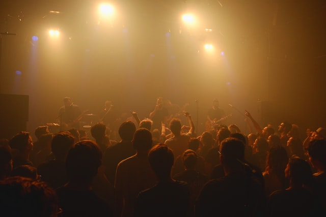 A concert taking place in Amsterdam