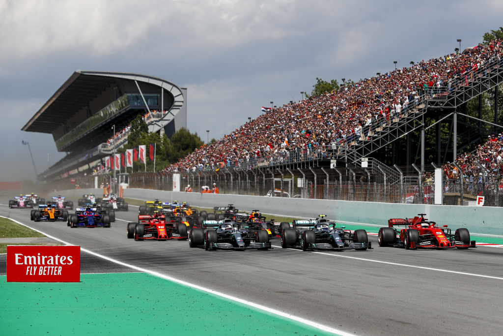 The start of the F1 Spanish Grand Prix