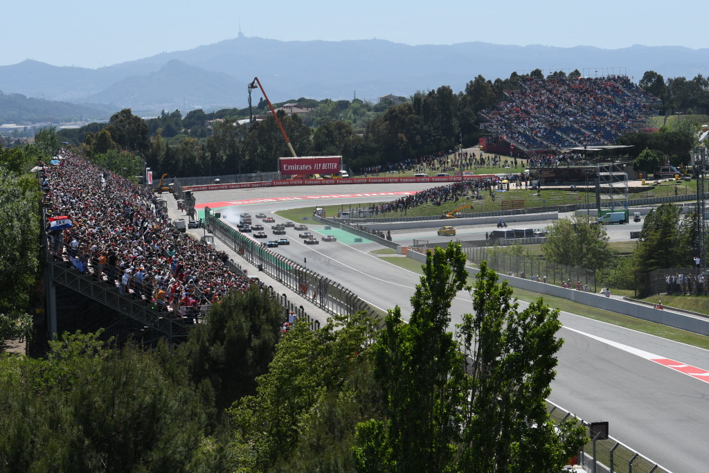The start of the 2019 Spanish Grand Prix