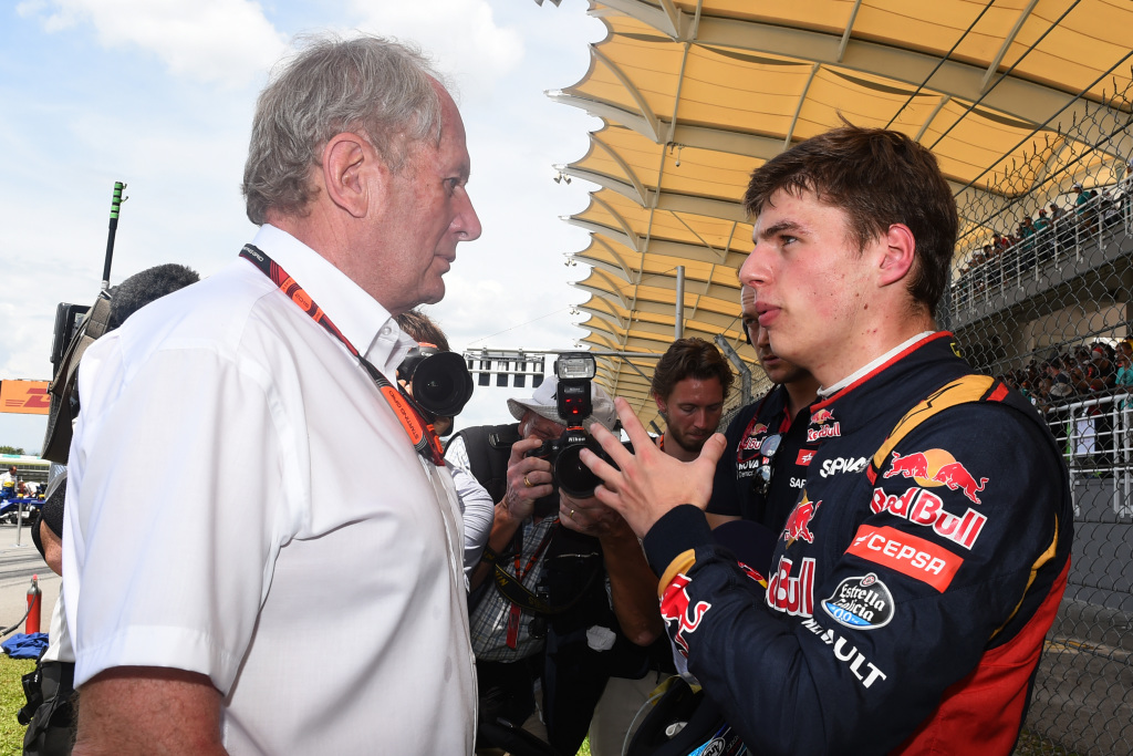 Red Bull Racing consultant Helmut Marko and driver Max Verstappen