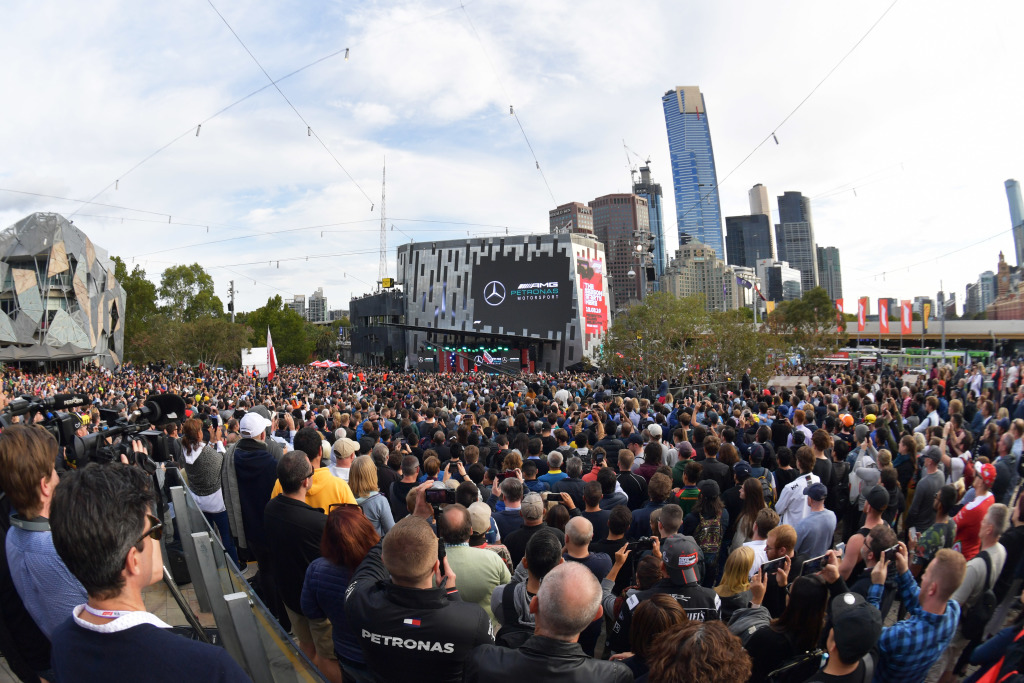 Fans attending the Australian Grand Prix