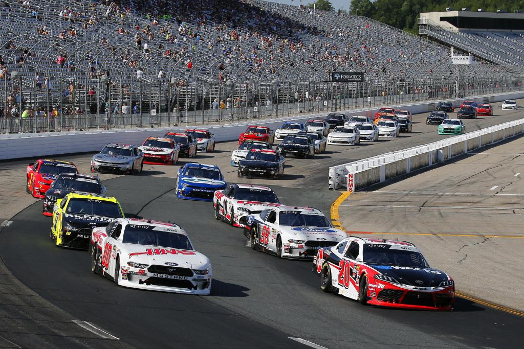 NASCAR cars racing in 2019