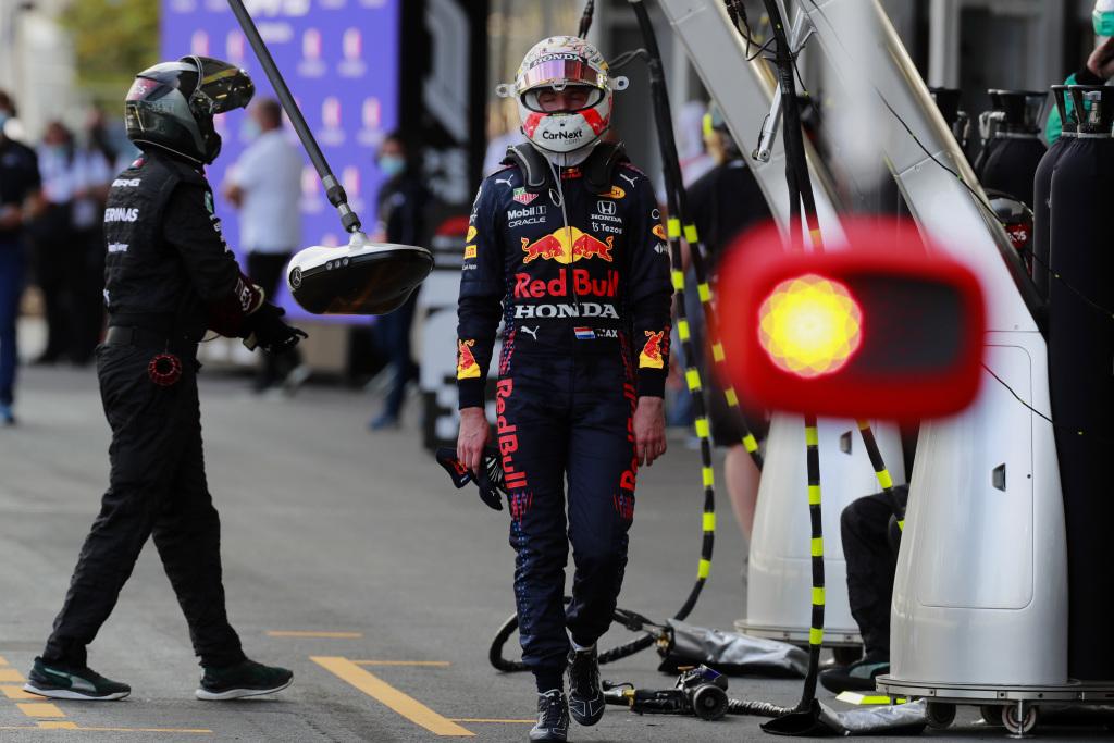 Max Verstappen after retiring from a Formula 1 Grand Prix