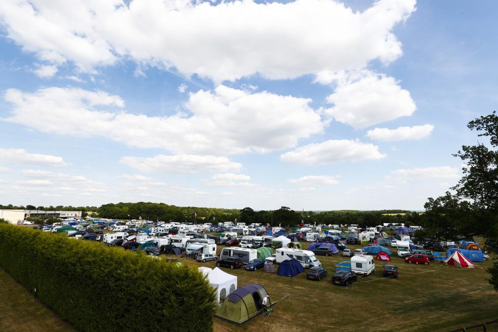 Camping at a Formula 1 race