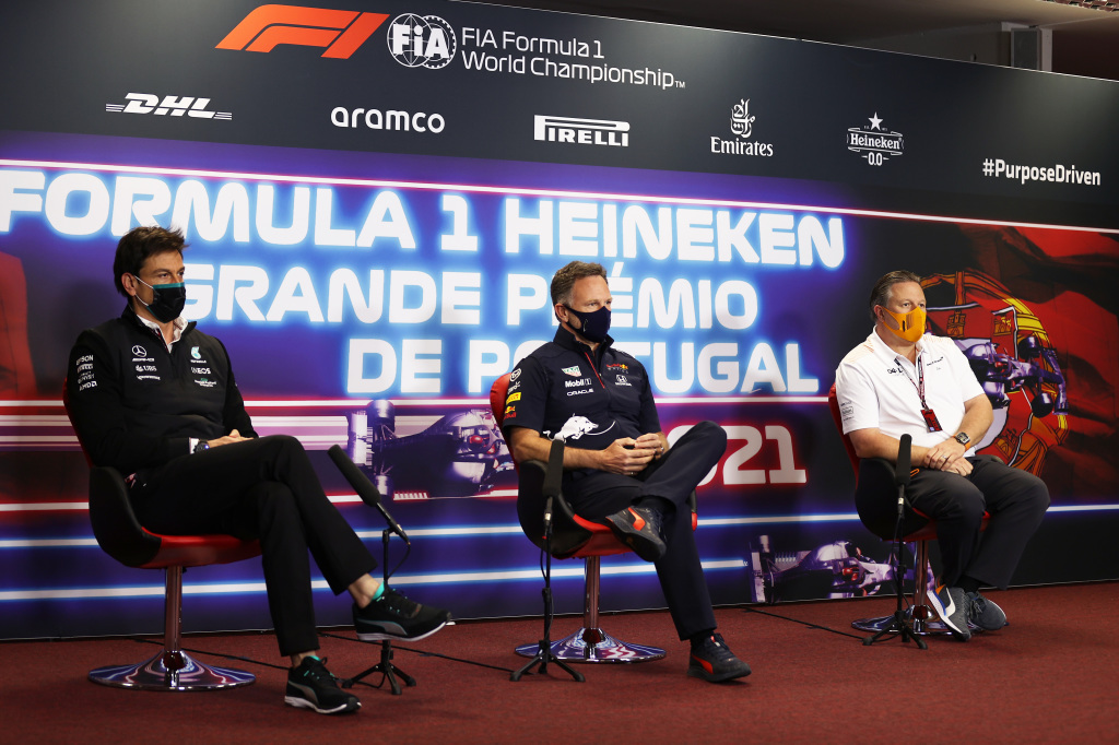 Toto Wolff, Christian Horner and Zak Brown.