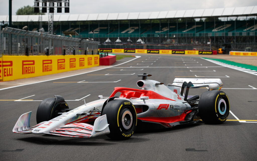 A prototype Formula 1 car.