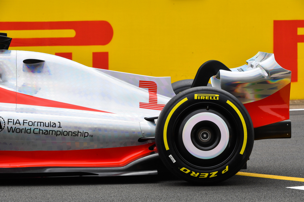 Formula 1 tyres on a prototype 2022 car