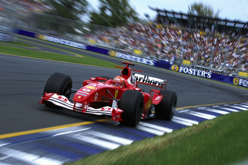 Michael Schumacher driving a Formula 1 car
