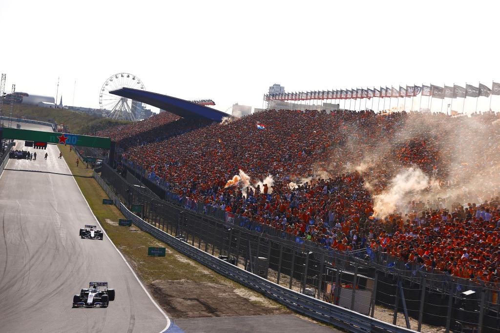 The main grandstand at Zandvoort