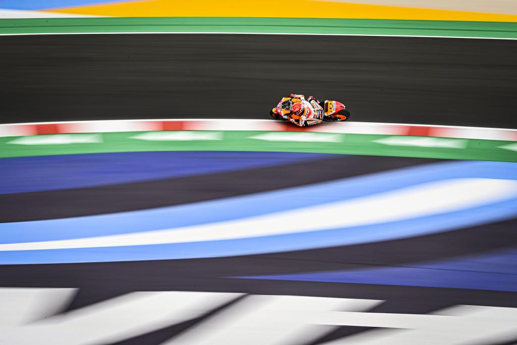 Marc Marquez setting a lap record